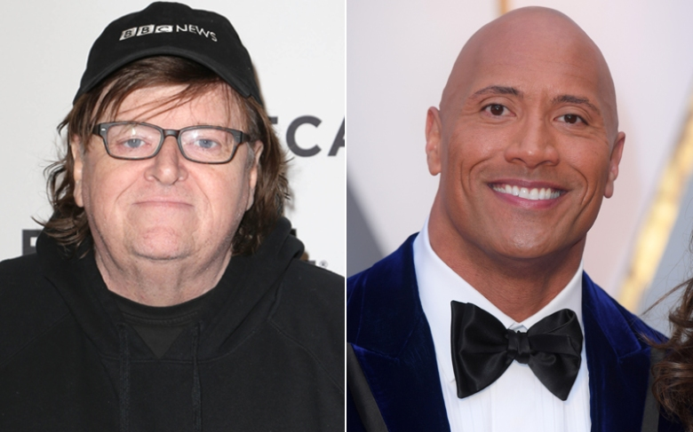 Michael Moore, Dwayne 'The Rock' Johnson