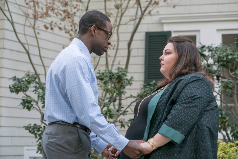 "THIS IS US -- ""What Now?"" Episode 117 -- Pictured: (l-r) Sterling K. Brown as Randall, Chrissy Metz as Kate -- (Photo by: Ron Batzdorff/NBC)"