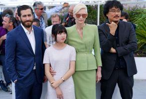 Jake Gyllenhaal, Seo-Hyeon Ahn, Tilda Swinton and Bong Joon-Ho'Okja' photocall, 70th Cannes Film Festival, France - 19 May 2017