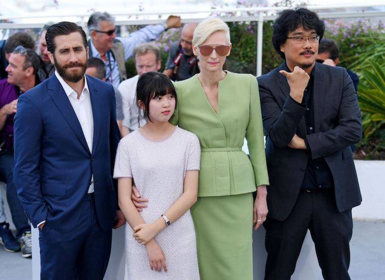 Jake Gyllenhaal, Seo-Hyeon Ahn, Tilda Swinton and Bong Joon-Ho'Okja' photocall, 70th Cannes Film Festival, France - 19 May 2017