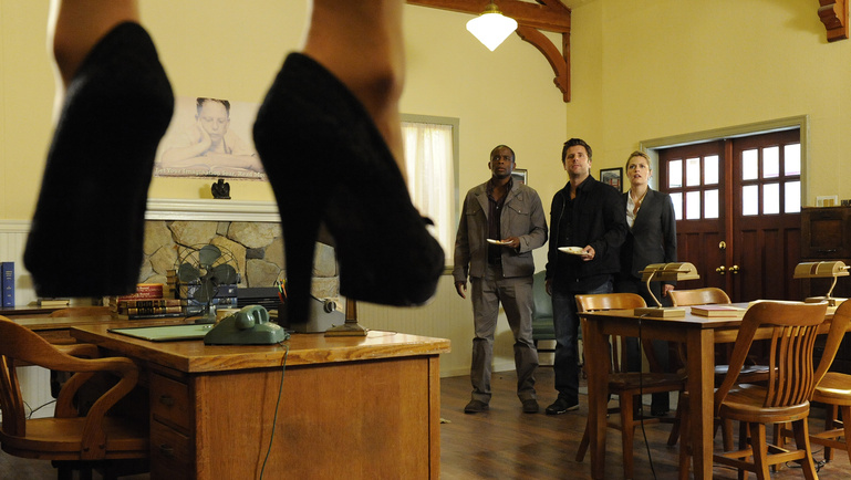 "Dule Hill, James Roday and Maggie Lawson, ""Psych"""
