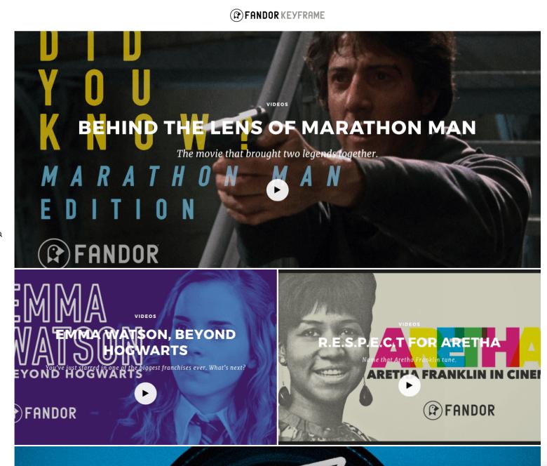 Fandor keyframe home page