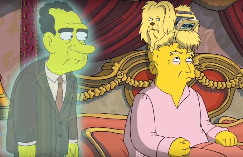 The Simpsons Donald Trump Richard Nixon