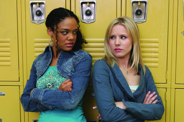 No Merchandising. Editorial Use Only. No Book Cover Usage Mandatory Credit: Photo by Snap Stills/REX/Shutterstock (2210145j) Kristen Bell Tessa Thompson Veronica Mars: Series 2. - 2005