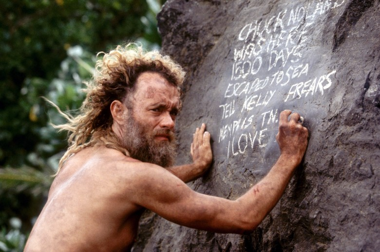 No Merchandising. Editorial Use OnlyMandatory Credit: Photo by REX/Shutterstock (330817k) TOM HANKS IN THE FILM CAST AWAY