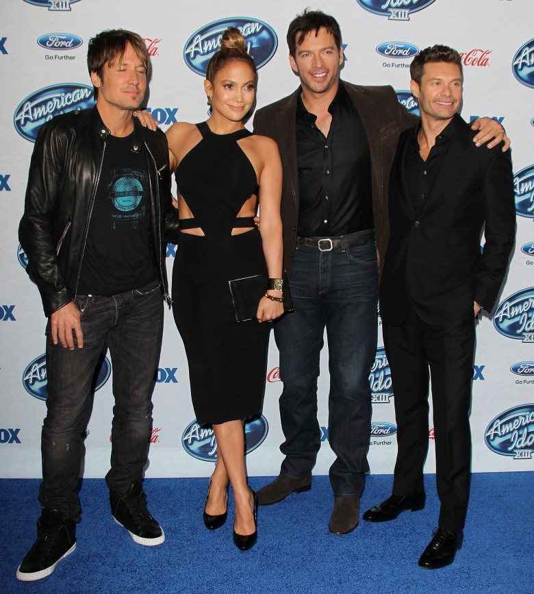 Keith Urban, Jennifer Lopez, Harry Connick Jr, Ryan SeacrestFox's American Idol XIII Finalists Party, Los Angeles, America - 20 Feb 2013