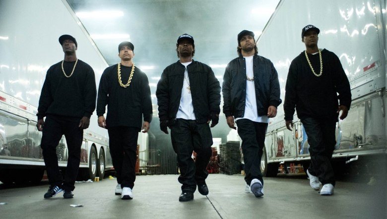 No Merchandising. Editorial Use Only. No Book Cover UsageMandatory Credit: Photo by Moviestore/REX/Shutterstock (5550491d)Aldis Hodge, Neil Brown Jr., Jason Mitchell, O'Shea Jackson Jr., Corey HawkinsStraight Outta Compton - 2015