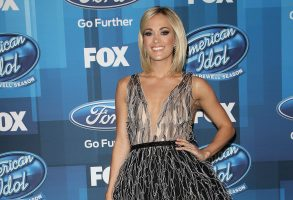 Carrie UnderwoodAmerican Idol Grand Finale, Arrivals, Los Angeles, America - 07 Apr 2016WEARING YANINA COUTURE SAME OUTFIT as catwalk model in *4383374z