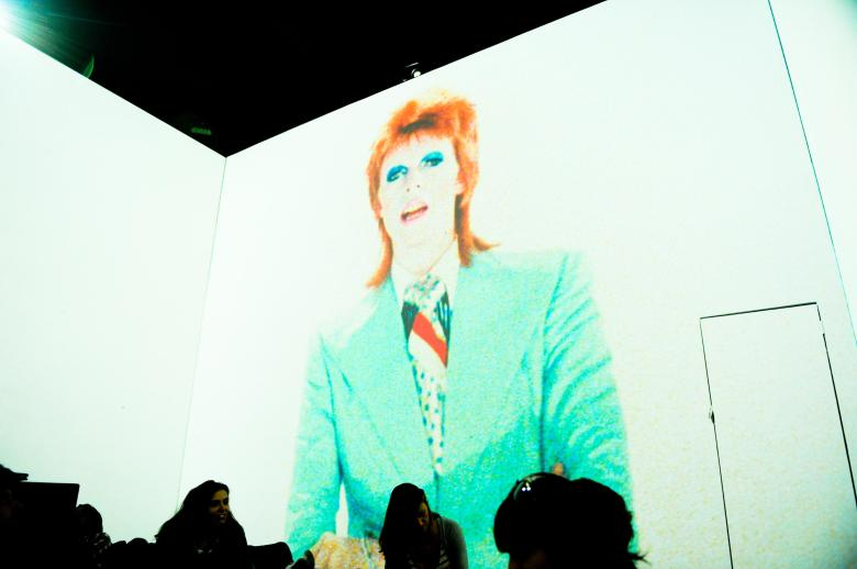 Life On Mars Revisited , David Bowie, Mick Rock, Barney ClayThe Creators Project Sponsored by Vice and Intel, New York , USA - 15 Oct 2011