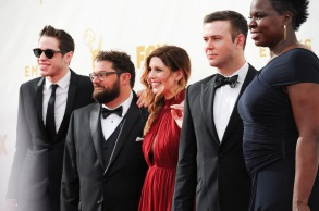 Pete Davidson, Bobby Moynihan, Vanessa Bayer, Taran Killam, Leslie Jones67th Emmy Awards : Arrivals, Los Angeles - 20 Sep 2015
