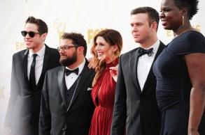 Pete Davidson, Bobby Moynihan, Vanessa Bayer, Taran Killam, Leslie Jones67th Emmy Awards : Arrivals, Los Angeles - 20 Sep 2015