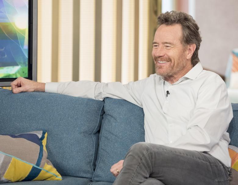 EDITORIAL USE ONLY. NO MERCHANDISING. IN US EXCLUSIVE RATES APPLYMandatory Credit: Photo by Ken McKay/ITV/REX/Shutterstock (6824935bc)Bryan Cranston'This Morning' TV show, London, UK - 25 Oct 2016BREAKING BAD?S BRYAN CRANSTON (6:30), Bryan Cranston is giving a candid insight into his incredible life in a new autobiography. He joins us today to tell us more about being a murder suspect, Our next guest is arguably one of the most versatile actors in Hollywood. From starring roles in hit sitcoms, and exactly what lengths die-hard Breaking Bad fans can go to!, how he?s able to legally marry people, to blockbuster movies and of course the role that turned him into a star - chemistry teacher turned callous drug lord Walter White in ?Breaking Bad?.