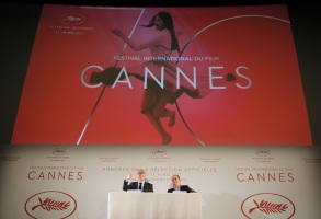 Copyright 2017 The Associated Press. All rights reserved. This material may not be published, broadcast, rewritten or redistributed without permission.Mandatory Credit: Photo by AP/REX/Shutterstock (8610445c)General Delegate of the Cannes Film Festival Thierry Fremaux, left and Cannes Film Festival President Pierre Lescure attend a press conference for the presentation of the 70th Cannes film festival, in Paris, . A Civil War film by Sofia Coppola, a Ukrainian road movie and a film about AIDS activism are among 18 films competing for the top prizes at this year's Cannes Film Festival, which organizers hope can help counter nationalist sentimentCannes Film Festival, Paris, France - 13 Apr 2017
