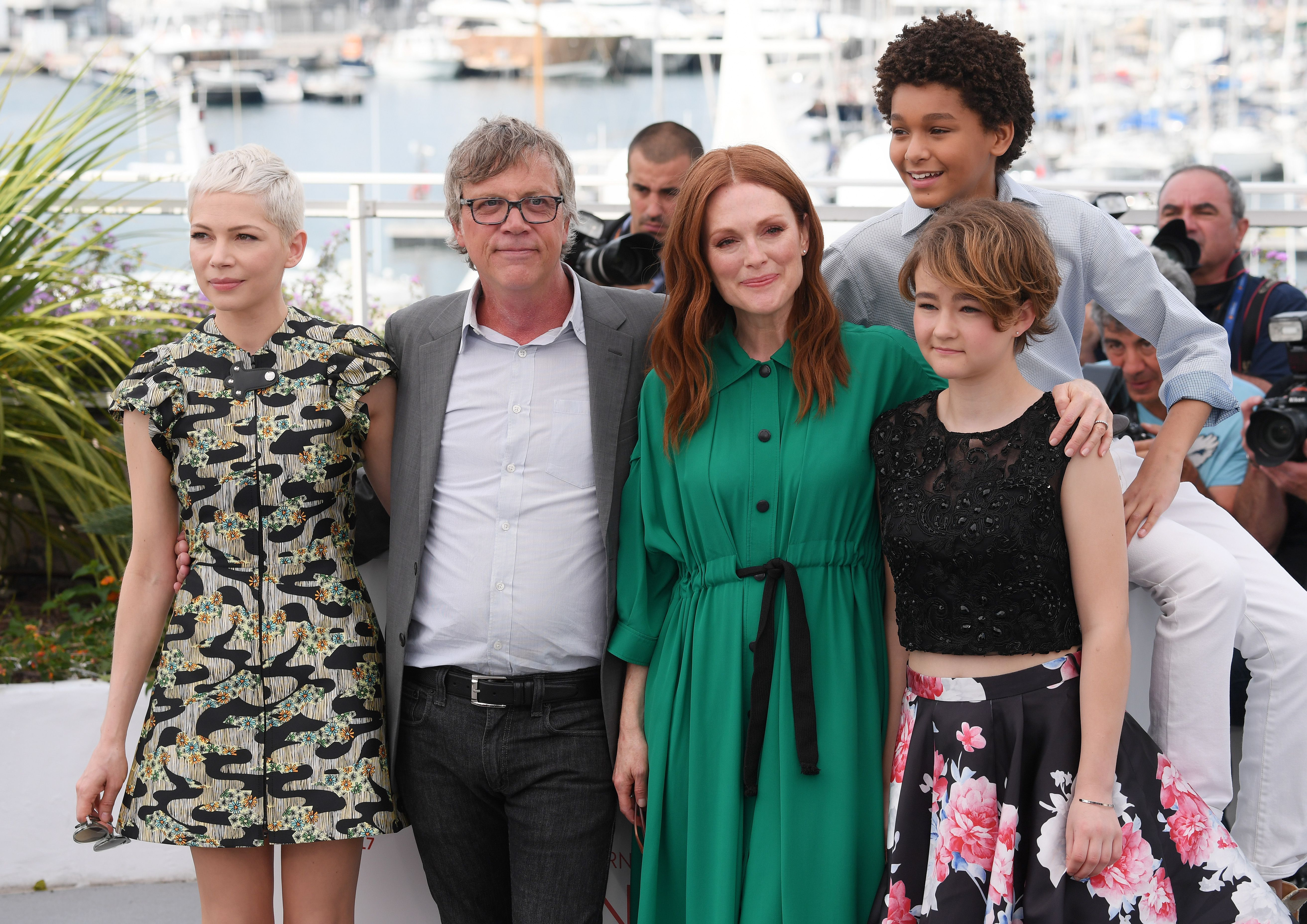 Michelle Williams, Todd Haynes, Julianne Moore, Jaden Michael and Millicent Simmonds'Wonderstruck' photocall, 70th Cannes Film Festival, France - 18 May 2017
