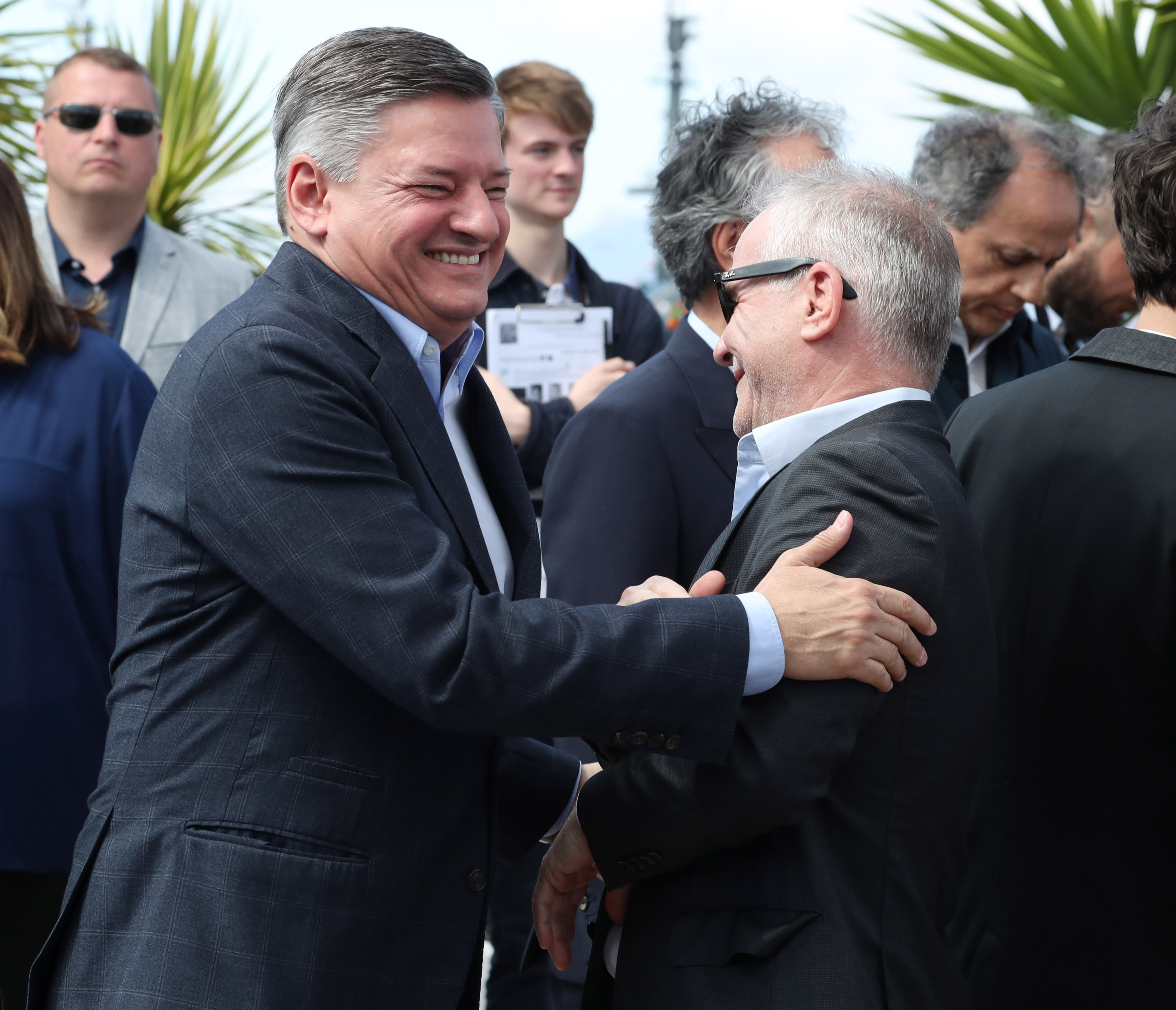 """Ted Sarandos and Thierry Fremaux """"Okay Photo Call, 70's Film Festival in Cannes, France - May 19, 2017"""
