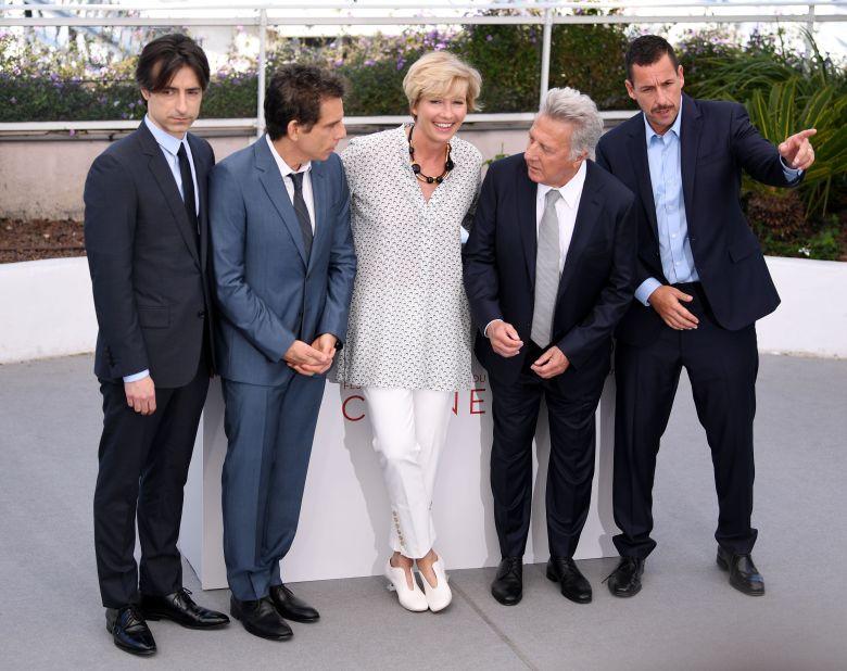 Noah Baumbach, Ben Stiller, Emma Thompson, Dustin Hoffman and Adam Sandler'The Meyerowitz Stories' photocall, 70th Cannes Film Festival, France - 21 May 2017