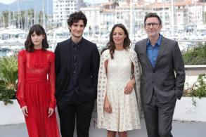 Stacy Martin, Louis Garrel, Berenice Bejo, Michel Hazanavicius'Redoubtable' photocall, 70th Cannes Film Festival, Cannes, France - 21 May 2017