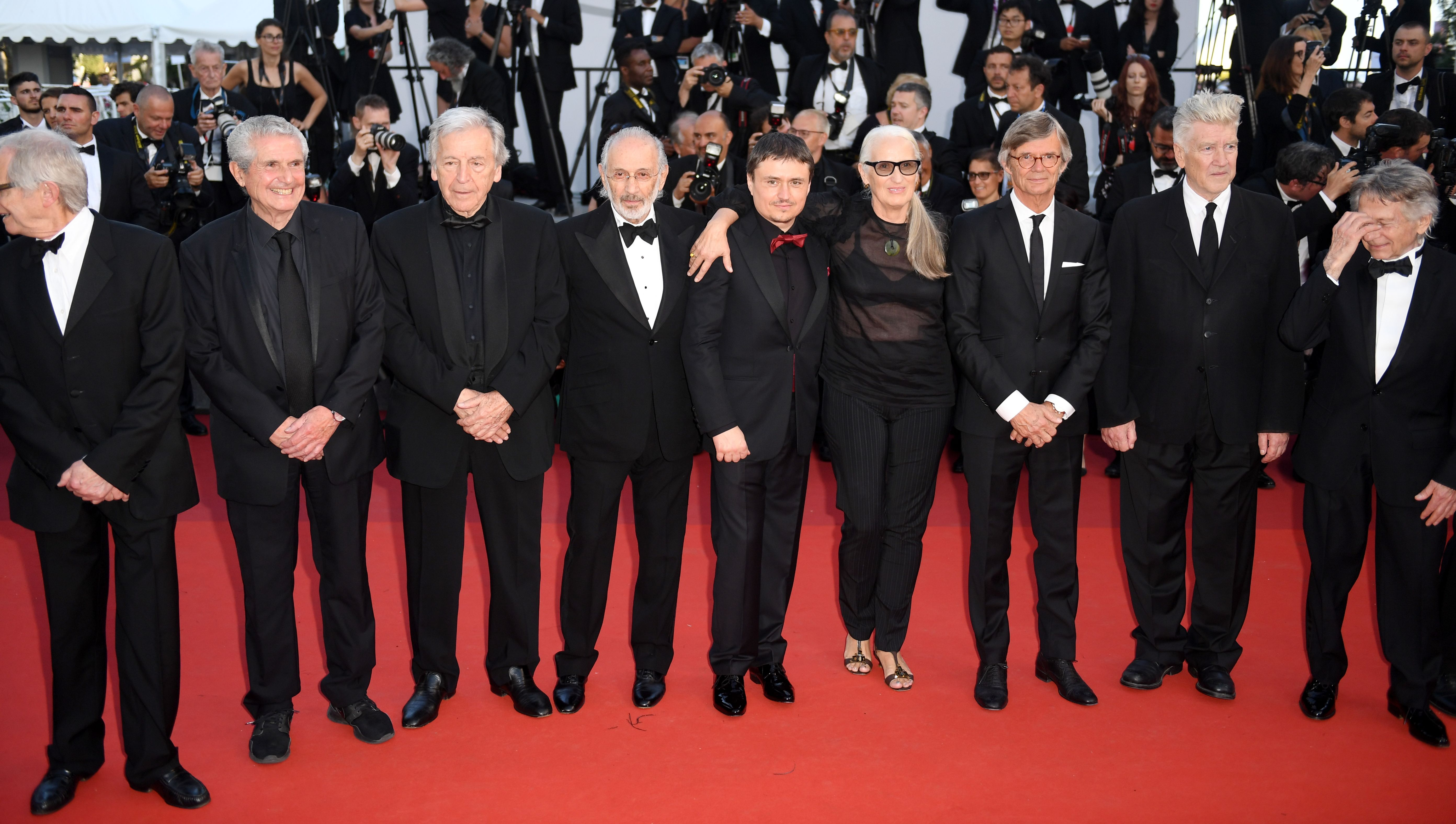 Ken Loach, Claude Lelouch, Costa-Gavras, Jerry Schatzberg, Roman Polanski, Cristian Mungiu, Jane Campion, Bille August, David Lynch, Nanni MorettiAnniversary Soiree, 70th Cannes Film Festival, France - 23 May 2017