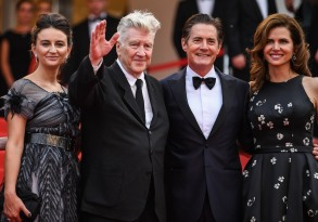 Emily Stofle, David Lynch, Kyle MacLachlan Desiree Gruber'Twin Peaks' Cannes