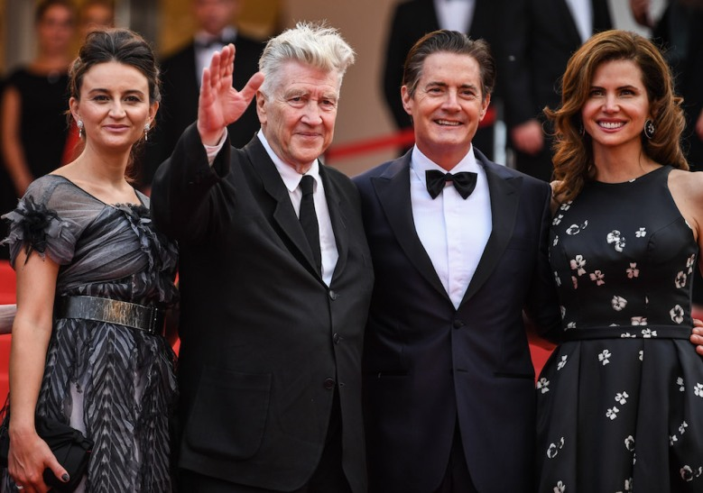 Emily Stofle, David Lynch, Kyle MacLachlan Desiree Gruber'Twin Peaks' Cannes