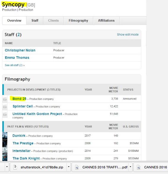 Christopher Nolan's Syncopy Reportedly Producing Bond 25