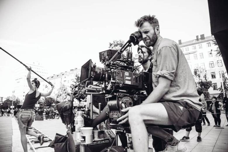 """Fredrik Wenzel on the set of """"The Square"""""""
