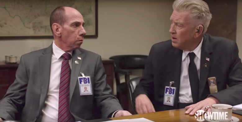 """Miguel Ferrer and David Lynch, """"Twin Peaks"""""""