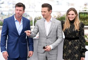 Taylor Sheridan, Jeremy Renner and Elizabeth Olsen'Wind River' photocall, 70th Cannes Film Festival, France - 20 May 2017