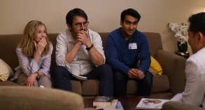 "From L to R: Holly Hunter as ""Beth,"" Ray Romano as ""Terry"" and Kumail Nanjiani as ""Kumail"" in THE BIG SICK. Photo by Nicole Rivelli."