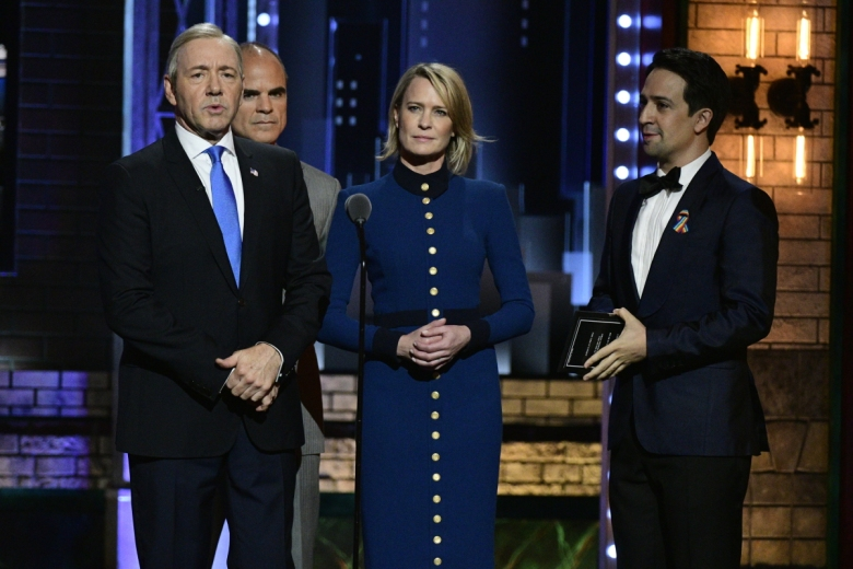Kevin Spacey, Michael Kelly, Robin Wright, Lin Manuel Miranda The Tonys 2017