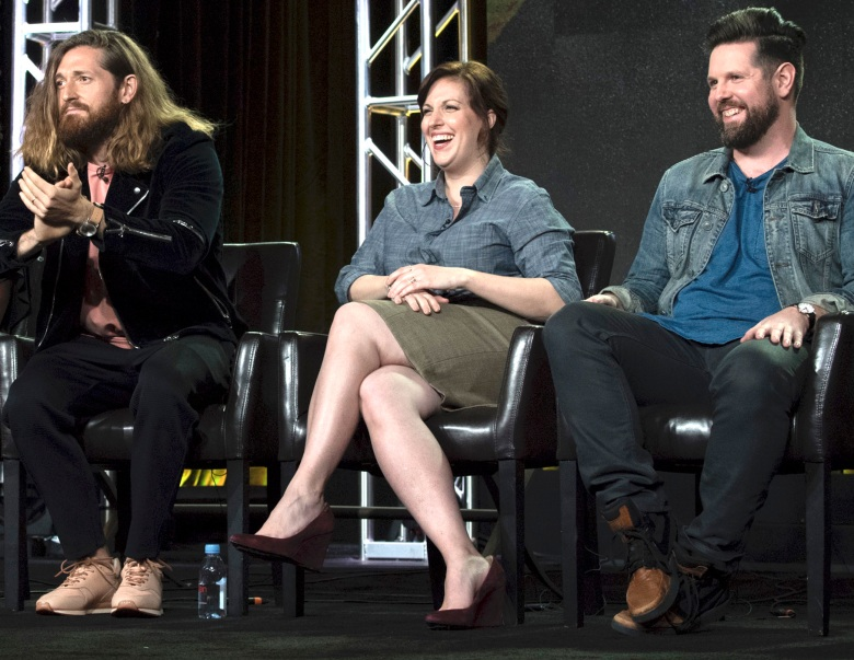 "Lucas Neff, Allison Tolman and Samm Hodges, ""Downward Dog"" TCA panel"