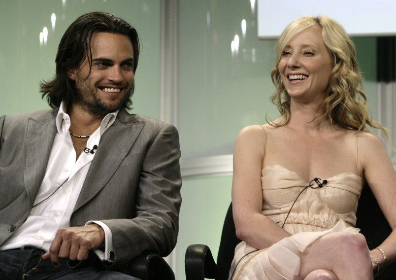 "Anne Heche;Scott Elrod Actors Scott Elrod and Anne Heche of the new drama ""Men in Trees,"" are seen during the ABC Summer Press Tour in Beverly Hills, Calif ABC Press Tour, Beverly Hills , USA"