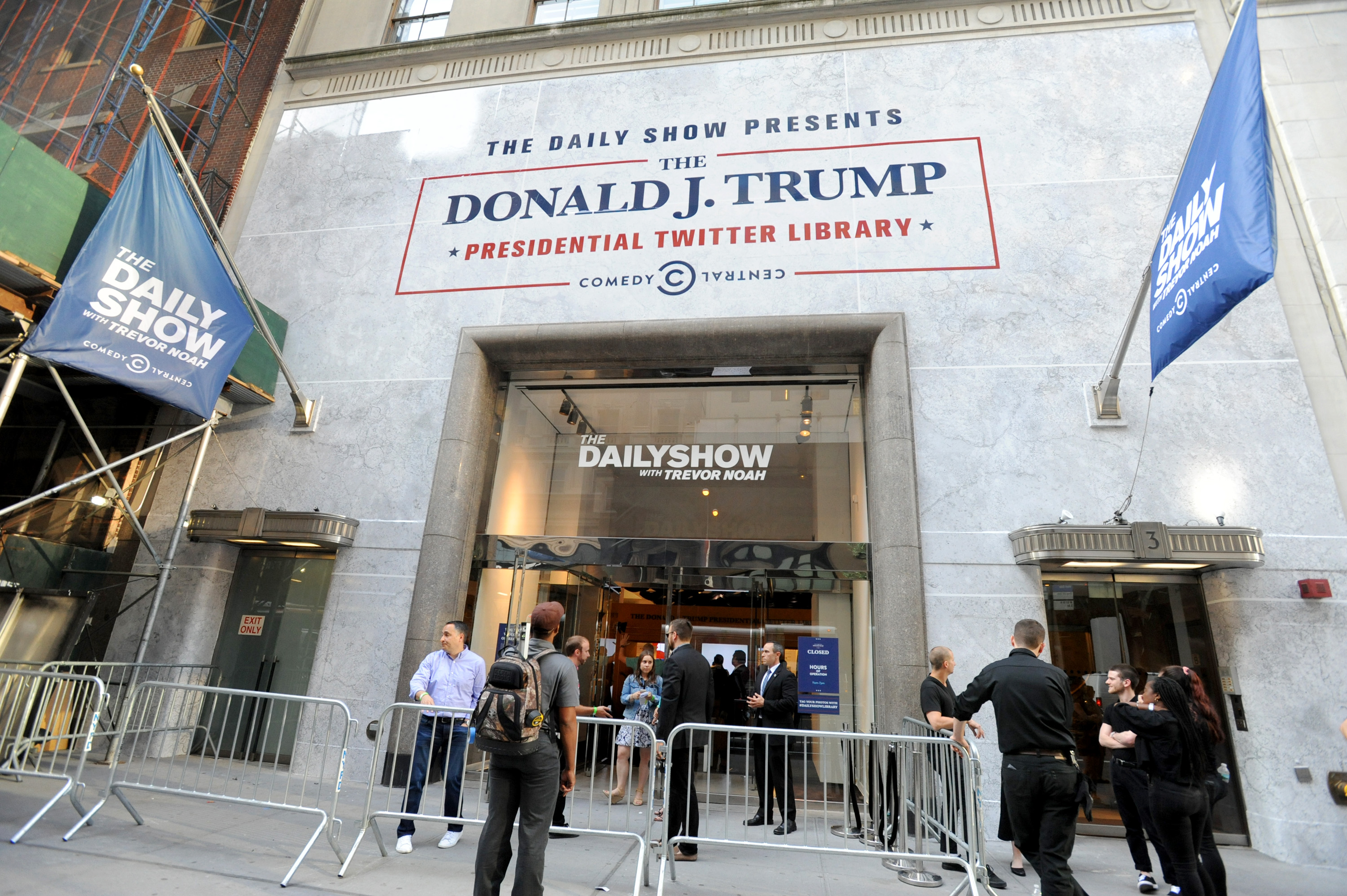 NEW YORK, NY - JUNE 15: A view of the venue at The Donald J. Trump Presidential Twitter Library Press Preview presented by Comedy Centrals The Daily Show on June 15, 2017 in New York City. (Photo by Brad Barket/Getty Images for Comedy Central)