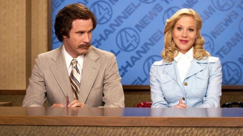 Will Ferrell and Christina Applegate in Anchorman