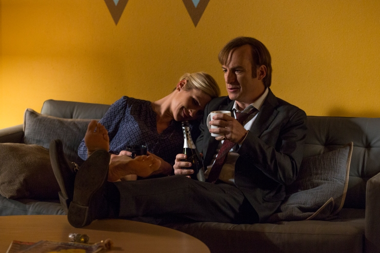Bob Odenkirk as Jimmy McGill, Rhea Seehorn as Kim Wexler - Better Call Saul _ Season 3, Episode 6 - Photo Credit: Michele K. Short/AMC/Sony Pictures Television