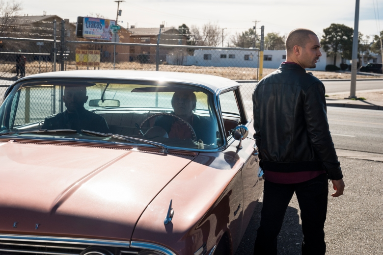 Michael Mando as Nacho Varga, Mark Margolis as Hector Salamanca, Vincent Fuentes as Arturo - Better Call Saul _ Season 3, Episode 10 - Photo Credit: Michele K. Short/AMC/Sony Pictures Television