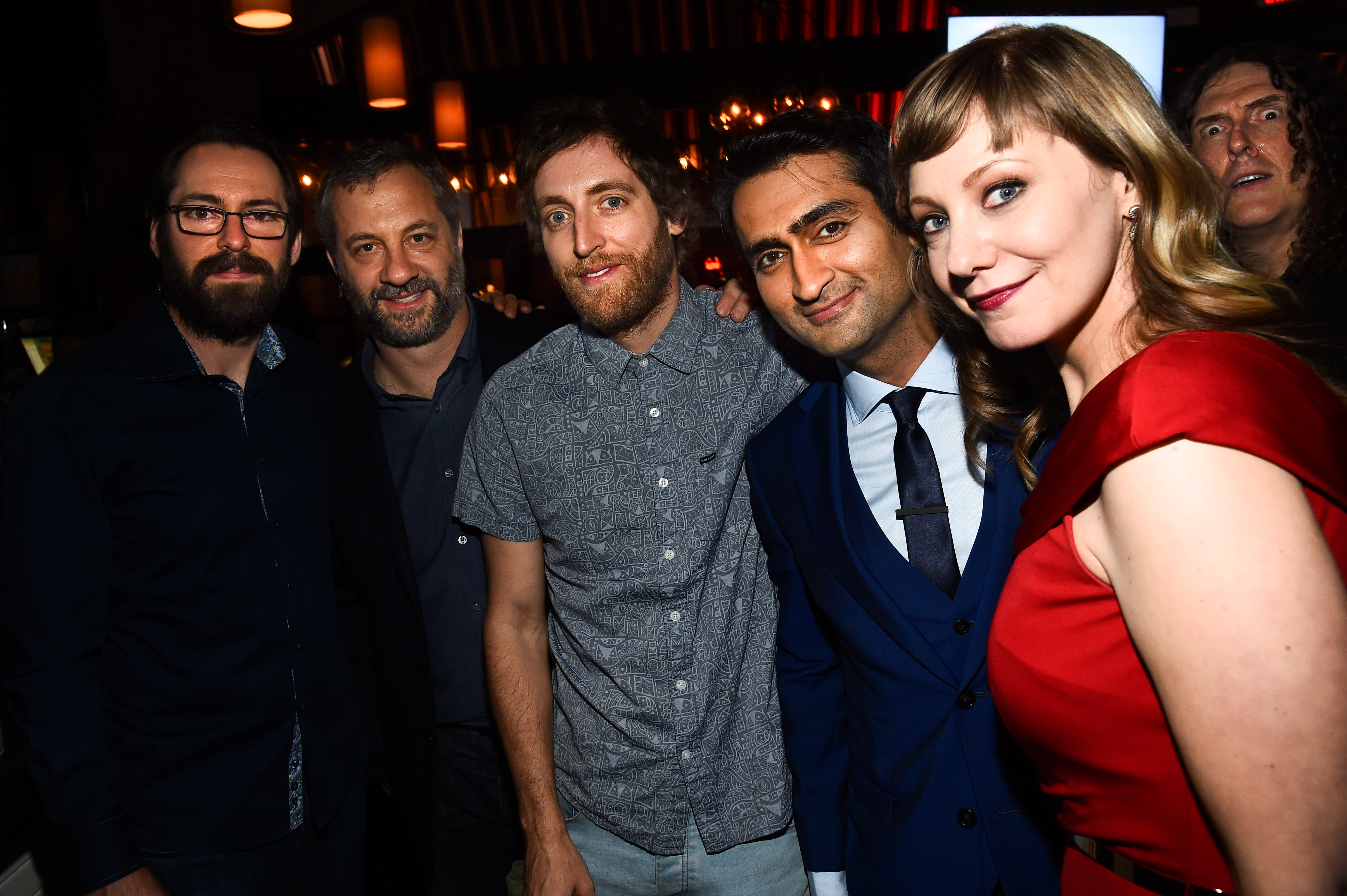 Martin Starr, Judd Apatow, Thomas Middleditch, Emily V. Gordon, Kumail Nanjiani and Weird Al Yankovic'The Big Sick' film premiere, After Party, Los Angeles, USA - 12 June 2017