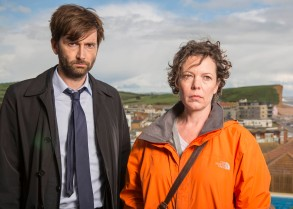 "David Tennant and Olivia Colman, ""Broadchurch"""