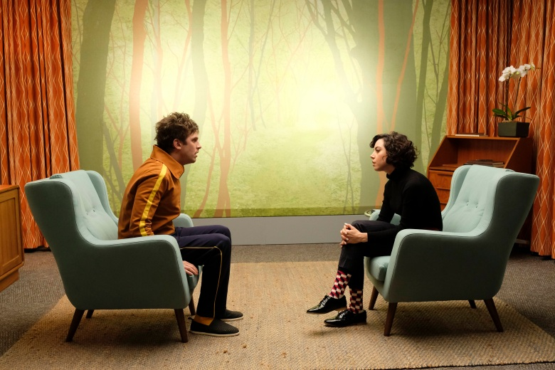 "LEGION -- ""Chapter 6"" – Season 1, Episode 6 (Airs Wednesday, March 15, 10:00 pm/ep) -- Pictured: (l-r) Dan Stevens as David Haller, Aubrey Plaza as Lenny ""Cornflakes"" Busker. CR: Michelle Faye/FX"