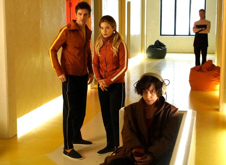 "Dan Stevens, Rachel Keller and Aubrey Plaza, ""Legion"""
