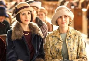 "Michelle Dockery and Laura Carmichael, ""Downton Abbey"""