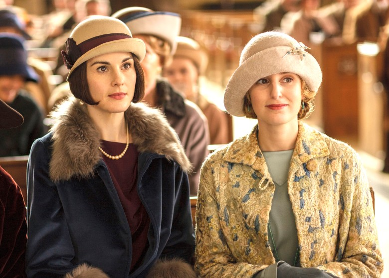 "Michelle Dockery and Laura Carmichael, ""Downton"