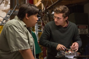 Jacob Batalon (left) and Tom Holland in Columbia Pictures' SPIDER-MAN™: HOMECOMING.