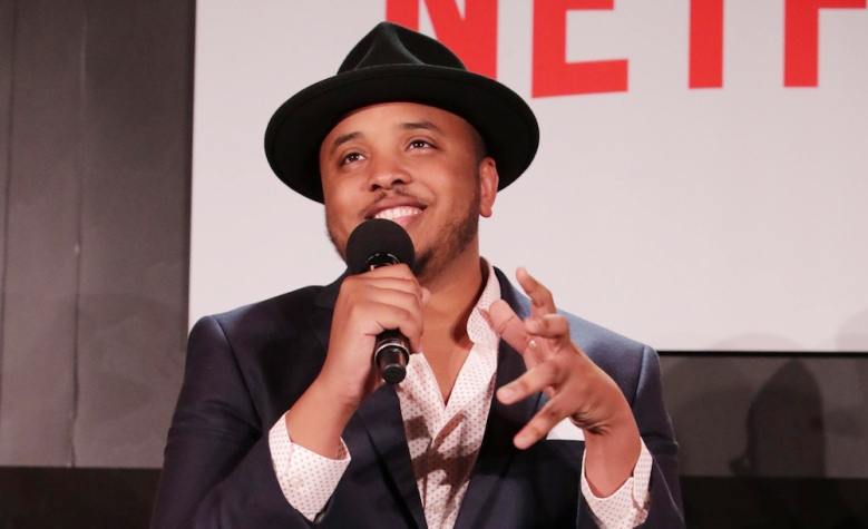 Creator/Exec. Producer Justin Simien seen at 'Dear White People' Netflix FYSee exhibit space with a Q&A on Sunday, June 04, 2017, in Los Angeles. (Photo by Eric Charbonneau/Invision for Netflix/AP Images)