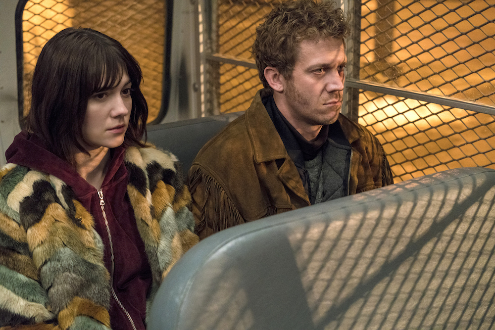 "FARGO -- ""The Law of Inevitability"" – Year 3, Episode 7 (Airs May 31, 10:00 pm e/p) Pictured (l-r): Mary Elizabeth Winstead as Nikki Swango, Russell Harvard as Mr. Wrench. CR: Chris Large/FX"