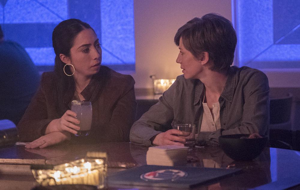 """FARGO -- """"Aporia"""" – Year 3, Episode 9 Olivia Sandoval as Winnie Lopez, Carrie Coon as Gloria Burgle."""