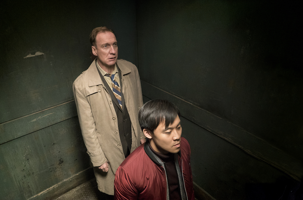 """FARGO -- """"Somebody to Love"""" – Year 3, Episode 10 (Airs June 21, 10:00 pm e/p) Pictured (l-r): David Thewlis as V.M. Varga, Andy Yu as Meemo. CR: Chris Large/FX"""