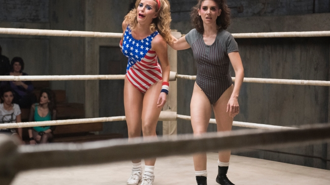 """Betty Gilpin and Alison Brie, """"GLOW"""""""