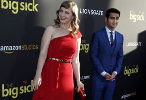 Emily V. Gordon and Kumail NanjianaiThe Big Sick film premiere arrivals, Hollywood, USA - 12 Jun 2017Husband and wife team, US writer/producer Emily V. Gordon (L) and Pakistani writer/producer and cast member Kumail Nanjianai (R) arrive for the premiere of 'The Big Sick' at the ArcLight Theatre in Hollywood, California, USA, 12 June 2017.