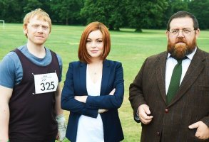 Rupert Grint, Lindsay Lohan and Nick Frost